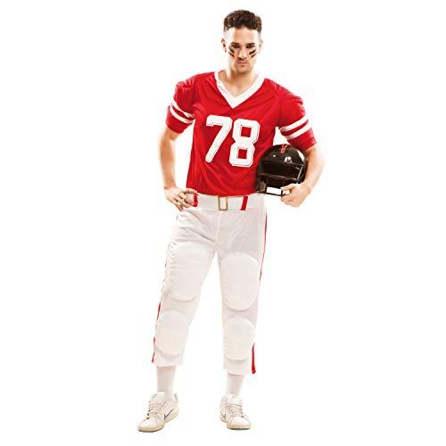 My Other Me Me-202135 Disfraz de jugador de rugby para hombre, color rojo, M-L (Viving Costumes 202135)