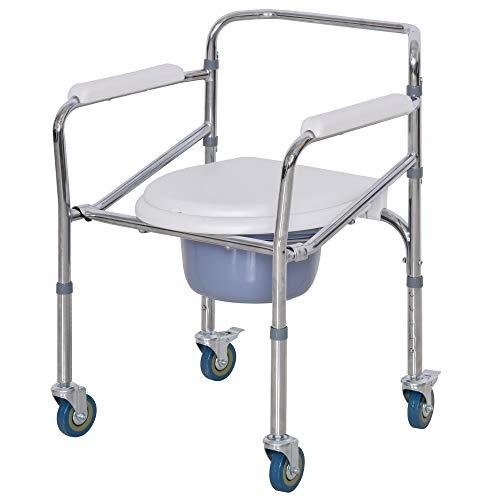 Chaise percée à roulettes - fauteuil roulant percé - chaise de...