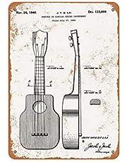 ABLERTRADE Aabletrade 1940 ukulele-patentskylt, vintage, metall, 20 x 30 cm