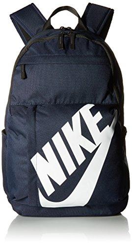 Nike Elmntl Bkpk Mochila, Unisex Adulto, Negro/Blanco/Azul Marino (Obsidian), S