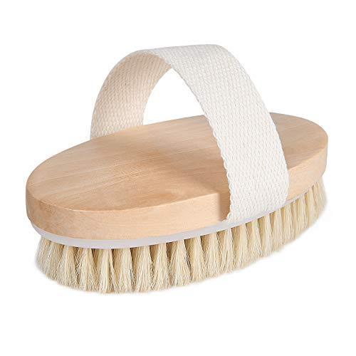 URAQT Trockenbürste, Rückenbürste Massagebürste Körperbürste Body Dry Brush Bürsten mit natürliche Borsten für Peeling Massage Verbessern die Durchblutung...
