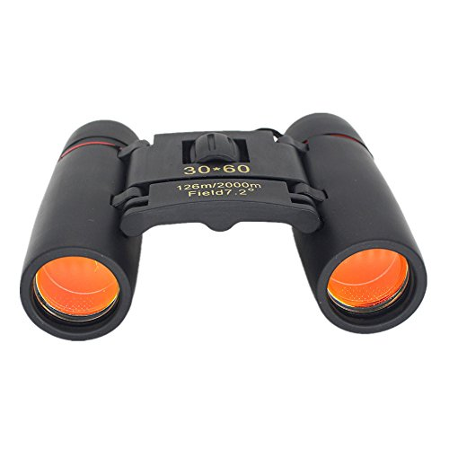 Best Prices! Meet&sunshine Outdoor Compact Binoculars, 30×60 Zoom Telescope Foldable Day Night Visi...