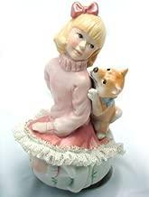 レースドール オルゴール マイ・ファミリー 柴犬 【 陶器 人形 】