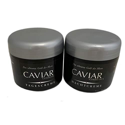 2 tlg. Anti-Aging CAVIAR EXTRAKT Gesichtscreme | Feuchtigkeitscreme | Tages- & Nachtcreme | Luxuriöse Feuchtigkeitspflege - für einzigartiger Straffung und Festigung der Haut