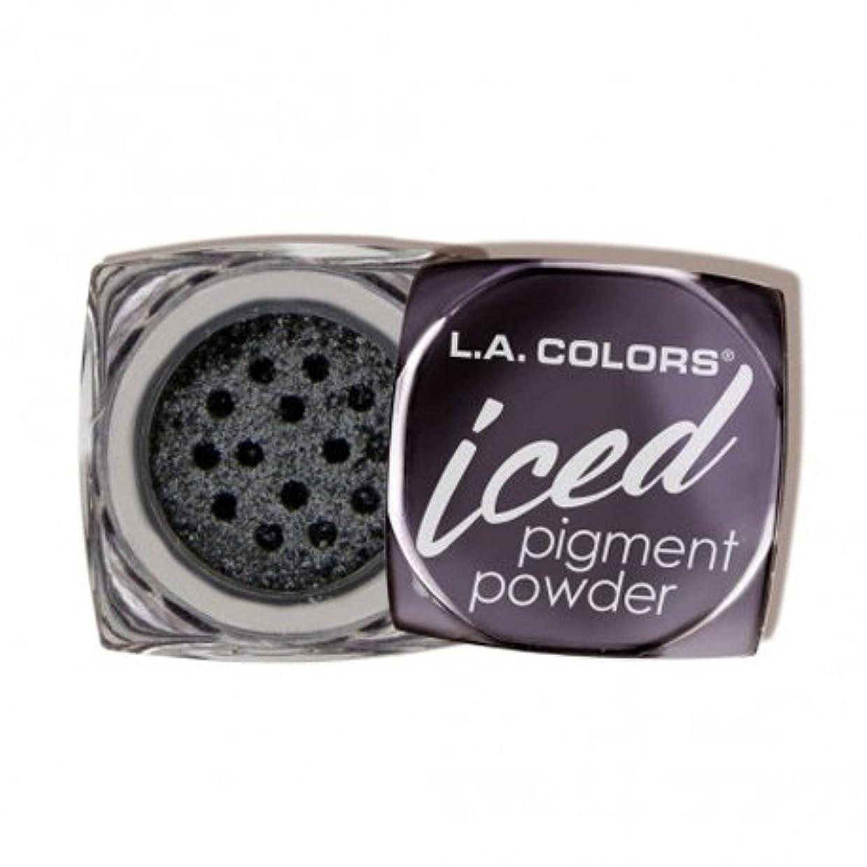 聴衆棚ハッピー(6 Pack) L.A. COLORS Iced Pigment Powder - Glimmer (並行輸入品)