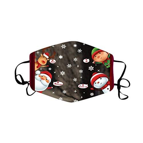Mundschutz für Bunt Atmungsaktive Staubdicht Bandana Nasenschutz Halstuch mit Weihnachten Drucken Mund und Nasenschutz Wiederverwendbar Gesichtsbedeckung