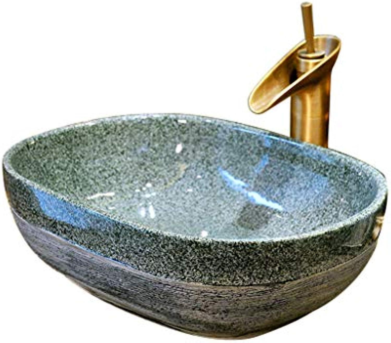 Badezimmer Retro Keramik über Waschbecken, Waschbecken, Waschbecken Waschpltze