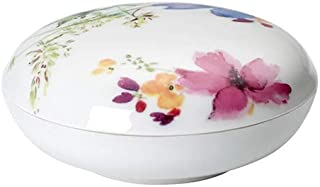 Villeroy & Boch Mariefleur Gifts Container, 11 cm, Premium Porcelain, Multicoloured, Multicolor, Pink, Yellow, Green