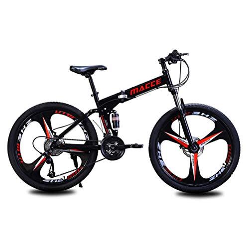 GOLDGOD 26 Zoll Mountainbike, Falten MTB Fahrrad Mit Doppelscheibenbremsen Tragbares Leichtgewicht Stoßdämpfer Mountain Bike Schnell Faltbar,21 Speed