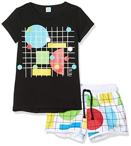 Tuc Tuc Conjunto Camiseta Y Short Punto Cuadros NIÑA Negro Funny Games