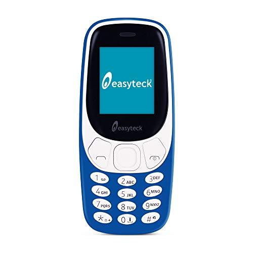 Telefono Anziani Easyteck B310 - Cellulare Anziani con Tasti Grandi - Telefonino per Anziani Schermo LCD e Grande Autonomia - Blu