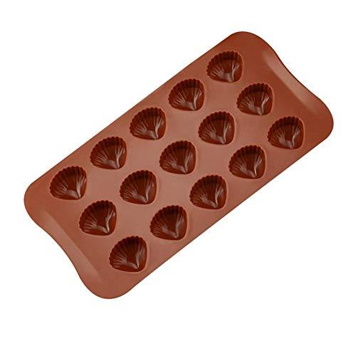 Seasons Shop siliconen schelpen voor chocolade, chocolade, chocoladevorm, vorm voor verjaardagen, bruiloften, verjaardag, 21 x 10,7 x 2 cm