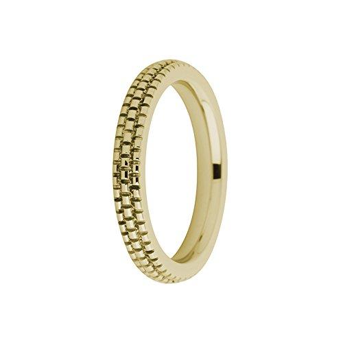 MelanO Ring/Vorsteckring/Beisteckring Edelstahl Gold beschichtet in der Optik fein graviert FR10RG030 (62 (19.7))