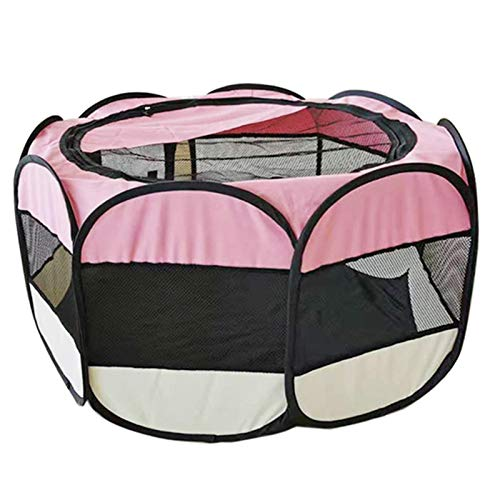 Huiyin Pet Octagonal Tent,Collapsible Cleanable Pregnancy Delivery Room Cat Kennel Dog Bed Dog Cage Carrying Case with Detachable Sunroof,Expectant Pregnancy Delivery Room Pet Supplies