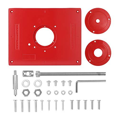 flygogo Carpentery Router Tisch einsetzen Platte für Trimmer Fräsen Graviermaschine Holzbearbeitungsbänke Holzbearbeitungsrouter Teller Werkzeug (Color : Red)