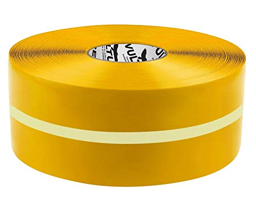 """Vulture Floor Tape Glow in The Dark Marking Tape, Solid with Glowing Center Line, Continuous Roll, 4"""" Roll, 1 EA, 45VR73"""