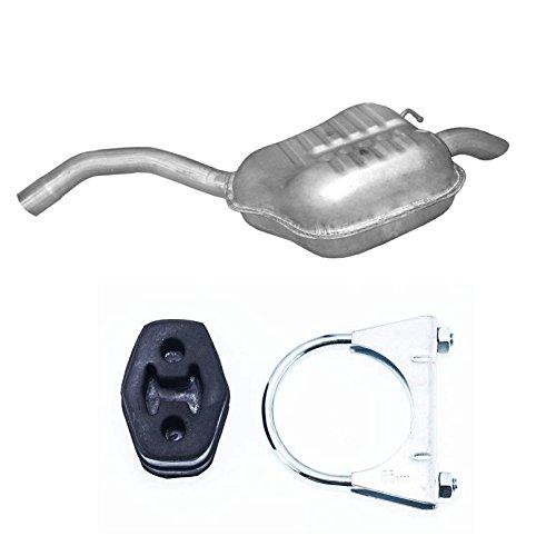 Endschalldämpfer Auspuff kompatibel mit Ford Galaxy 1.8/2.0 TDCi 74kW-103kW NEU + Montageware