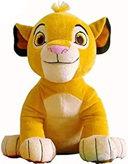 """Premium Quality """"The Lion King Simba"""" Cute Plush Toy Soft Stuffed Animal Doll Motivational Toy Home Office & Car Décor (C-..."""
