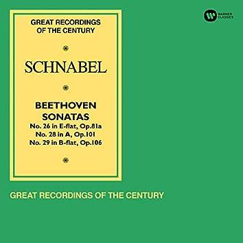 """Beethoven: Piano Sonatas Nos 26 """"Les Adieux"""", 28 & 29 """"Hammerklavier"""""""