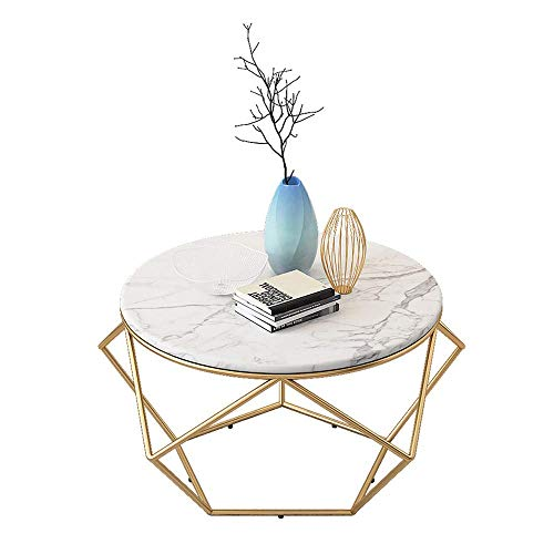 N/Z Living Equipment Office Waiting Area Table Sofa Side Table Round Coffee Table Marble End Table Modern Creative Decoration Furniture...