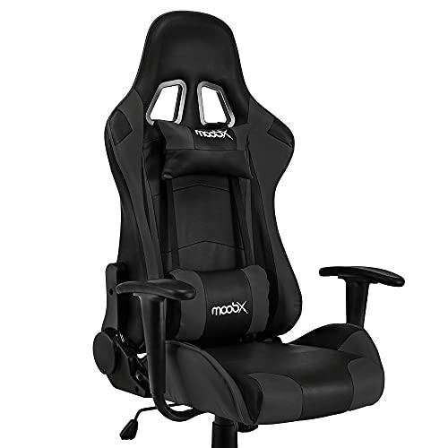 Cadeira Escritório Gamer MoobX GT Racer Preta Com Regulagem de Altura