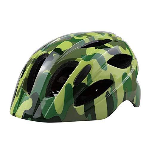 ANUFER Bike Helmet for Kids 7-15 Years Old Lightweight Adjustable Outdoor Sports Protective Helmet SN602C022 Camouflage