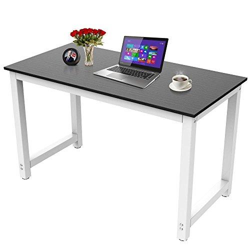 Yaheetech Computertisch Bürotisch Schreibtisch Tisch Metallstruktur schwarz 120 x 60 x 73 cm
