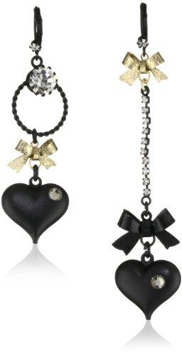 Betsey Johnson Mismatch Bubble Heart Earrings