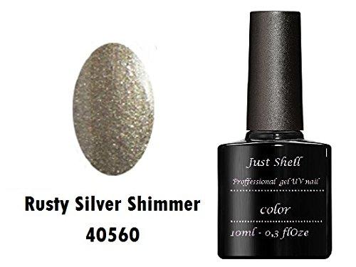 JUST SHELLAC GEL Vernis Couleur a Ongles Steel Gaze Silver professionnels gel UV Semi Permanent UV/LED 10ml