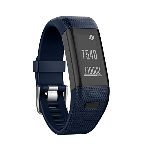 Yikamosi Kompatibel mit Garmin Vivosmart HR+ Armband,Soft-Silikon Smart Watch Armband Atmungsaktiv Ersatz Strap für Garmin Vivosmart HR+(NO Vivosmart HR,Midnight Blue)