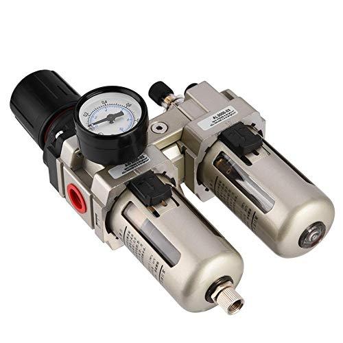 Aire regulador de presión, AC3010-03 aleación de aluminio de aire comprimido del regulador de presión de humedad Trampa Filtro de agua de 3/8' (1pcs / pack)