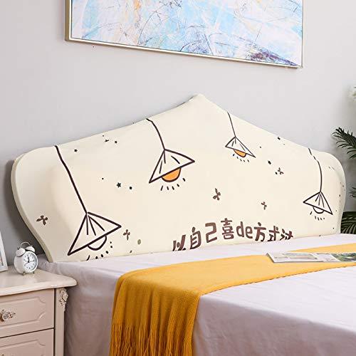 KJHG Bett Kopfteil Abdeckung Staubdichte Stretch Bett Kopfschutz Abdeckung für Twin Queen Full California Betten dekorative Protektoren