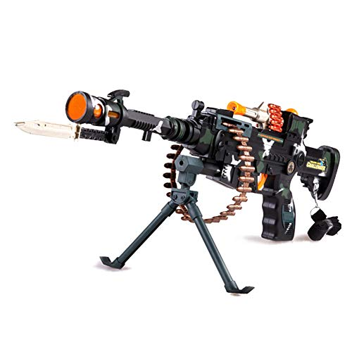 Kandall Toy Gun Electric Machine Gun with LED Lights and Fire Sounds