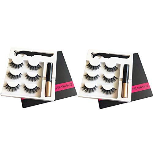 ZRSZ Magnetic Eyelashes Eyeliner Set 6 Paires De Faux Cils Magnétiques Et Eyeliner étanche Réutilisable Idéal Pour Le Cadeau De La Fête Des Mères