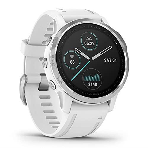 Garmin fenix 6 S GPS-Multisport-Smartwatch mit Herzfrequenzmessung am Handgelenk. Wasserdichte Laufuhr für Ihre Fitness, Armband für Schmale Handgelenke, lange Akkulaufzeit, Kontaktloses Bezahlen