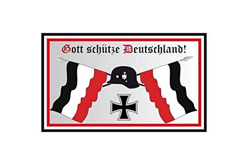 DH 52 - Deutschland Flagge - Gott schütze Deutschland Fahne 90 x 150cm