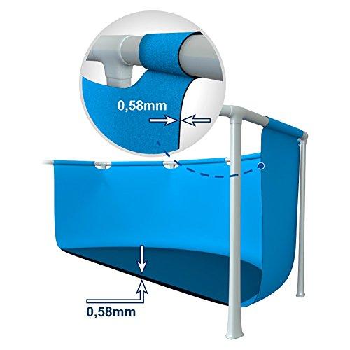 Intex 28316 Piscina Fuori Terra Rettangolare con Telaio Portante in PVC Triplice Strato con Pompa Filtro e Scaletta, 6800 Litri, Blu, 400x200x100 cm