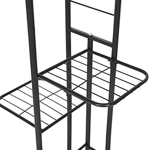 Ejoyous Supporto per fioriera, Robusto Supporto per Fiori Forte capacità portante per la casa(Dark Gray, 120 * 3mm)