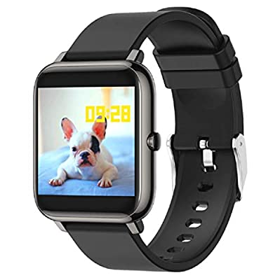 """Tofit Smart Watch Fitness Tracker Heart Rate Monitor,Activity Tracker with 1.3"""" Touch Screen,Music Control Calorie Counter Sleep Monitor for Women and Men (Black)"""