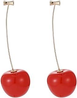RIsxffp - Orecchini da donna a forma di ciliegia, pendenti, ideali per feste o come regalo di compleanno