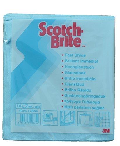 Scotch-Brite 10 x Microfasertuch 2060 blau - 40x36cm