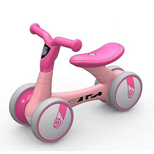 GCXLFJ Triciclo Bebe Triciclo PresentTrike bebé Bicicleta de Equilibrio,recorre de los niños en Bicicleta sin Pedales de dirección Formación Vehicle135 °Límite Adecuado for niños 1-3 años,Rojo