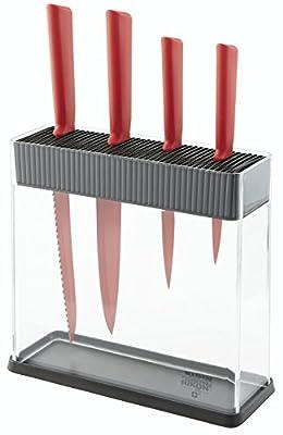 """Kuhn Rikon""""Colori+"""" Vision Knives & Block Set"""
