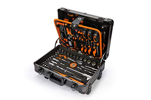 KENDO Werkzeugtrolley – Werkzeugkoffer – 160-teilig – Mit hochwertigen und vielseitigen...