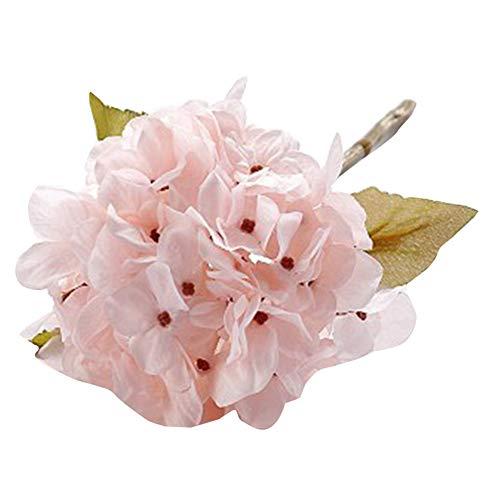 laoonl - Flor de hortensia artificial, ramo de hortensias, decoración artesanal para bodas o Navidad de hortensias hechas a mano, decoración para el hogar