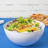 Ciotole in plastica, per servire l'insalata, per la cucina, set di 3, capacità 2,85 litri, colore: bianco