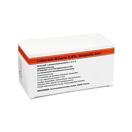 LIDOCAIN Röwo 0,5% Ampullen 2 ml 50X2 ml