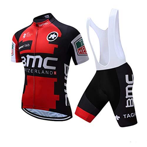 N/A Bodies de Ciclismo para Hombre~Jersey Ciclismo Conjunto Mangas Cortas+ 9D Acolchado De Gel Ciclismo Culote,Transpirable/Secado rápido,para MTB/Spinning/Bicicleta,2XL
