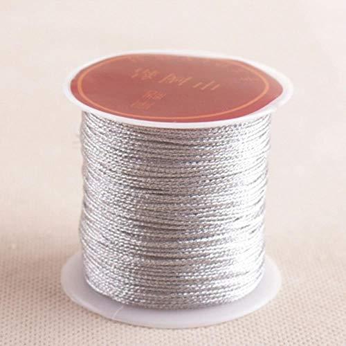 Yener 1 Rol Naaimachine Draad Goud Zilver Duurzaam Overlock Polyester Kruissteek Sterke Draad voor Naaibenodigdheden, zilver