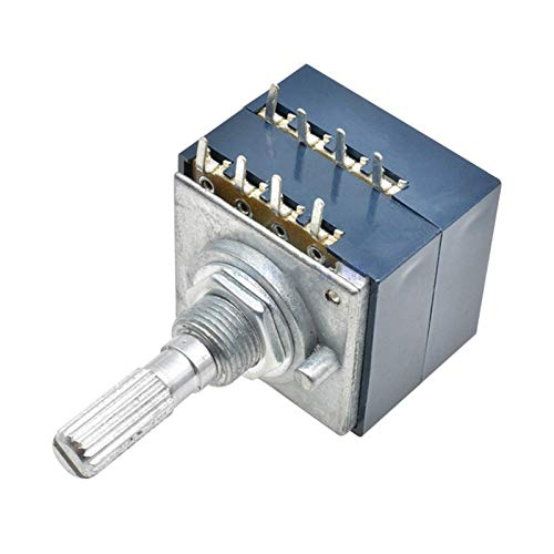 JSJJAWS Potenciómetro Potenciómetro rotatorio Alpes RH2702 A100K 100K 50K Dual 8 pies...